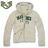 [Rapid Dominance] R44 DeLuxe Military Full Zip Hoodies Marines Khaki - ���ǵ� ���̳ͽ� ���غ� �𷰽� ���� ���� �ĵ� R44