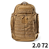 511 택티컬(511 Tactical) [5.11 Tactical] RUSH 72 Back Pack (FDE) - 5.11 택티컬 러쉬 72 백팩 (FDE)
