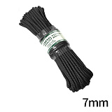[Kinryu Japan] ZERO-Utility Rope 7mm X 15m - Ų������ ���� �ٱ�� ���� 7mm X 15m Black