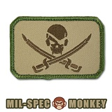 [Mil-Spec Monkey] Pirate Skull Flag (Multicam) - �н��� ��Ű ��ġ ���̷�Ʈ ���� �÷��� 0052 (��Ƽķ)