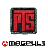 [Magpul] Magpul PTS Logo Patch (Red/Black) - ��Ǯ PTS �ΰ� ��ġ 802 (����/�?)