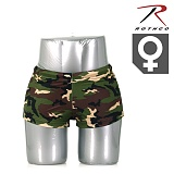 [Rothco] Womens Woodland Camo Hot Shorts - �ν��� ��巣�� ī�� ������ (������)