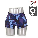 [Rothco] Womens Sky Blue Camo Hot Shorts - �ν��� ��ī�̺�� ī�� ������ (������)