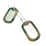 US Army Embossed Military Dog Tag Set - �������� US ������ �ν�ǥ  & �Ǹ��� ��ŷ ��Ʈ