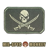 [Mil-Spec Monkey] Pirate Skull Flag (ACU/Light) - �н��� ��Ű ��ġ ���̷�Ʈ ���� �÷��� 0052 (ACU/����Ʈ)