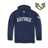 라피드 도미넌스(Rapid Dominance) [Rapid Dominance] S43 - Full Zip Fleece Military Hoodies. Airforce (Navy) - S43 에어포스 지퍼 후드 (네이비)