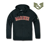 라피드 도미넌스(Rapid Dominance) [Rapid Dominance] S43 - Full Zip Fleece Military Hoodies. Marines (Black) -  S43 마린 지퍼 후드 (블랙)
