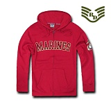 라피드 도미넌스(Rapid Dominance) [Rapid Dominance] S43 - Full Zip Fleece Military Hoodies. Marines (Cardinal) -  S43 마린 지퍼 후드 (카디날)