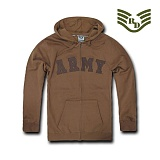 라피드 도미넌스(Rapid Dominance) [Rapid Dominance] S43 - Full Zip Fleece Military Hoodies. Army (Coyote) -  S43 아미 지퍼 후드 (코요테)