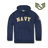 라피드 도미넌스(Rapid Dominance) [Rapid Dominance] S43 - Full Zip Fleece Military Hoodies. NAVY (Navy) -  S43 네이비 지퍼 후드 (네이비)