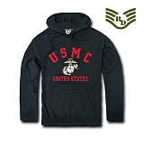 라피드 도미넌스(Rapid Dominance) [Rapid Dominance] S45 - Military Fleece Pullover Hoodies. USMC (Black) - S45 USMC 풀오버 후드 (블랙)