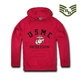 라피드 도미넌스(Rapid Dominance) [Rapid Dominance] S45 - Military Fleece Pullover Hoodies. USMC (Cardinal) - S45 USMC 풀오버 후드 (카디날