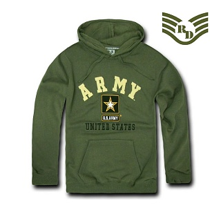 라피드 도미넌스(Rapid Dominance) [Rapid Dominance] S45 - Military Fleece Pullover Hoodies. Army (Olive) - S45 아미 풀오버 후드 (올리브)