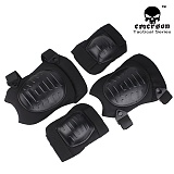 [Emerson] Tactical  Military Elbow/Kneepad SET Black - ���ӽ� ��Ƽ�� �Ȳ�ġ/���� ��ȣ�� ��Ʈ (�?)
