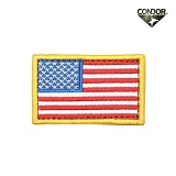 [CONDOR] USA Flag Velcro Patch COLOR - �ܵ��� �̱� �÷��� ��ũ�� ��ġ (�÷�)