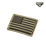 [CONDOR] USA Flag Velcro Patch TAN - �ܵ��� �̱� �÷��� ��ũ�� ��ġ (TAN)