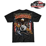 [7.62 Design] USMC Fighting Eagle T-Shirts - 7.62 USMC ������ �̱� Ƽ����