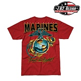 [7.62 Design] USMC Eagle Globe & Anchor T-Shirts - 7.62 USMC �̱� �۷κ� & ��Ŀ Ƽ����