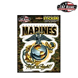 [7.62 Design] USMC Eagle Globe & Anchor Stickers - 7.62 USMC �̱� �۷κ� & ��Ŀ ��ƼĿ
