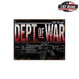 [7.62 Design] Dept of War Steel Signs - 7.62 Dept of War ��ƿ ����