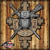 [7.62 Design] Jumbo Sign Deus Vult (God Wills It) Steel Signs - 7.62 ���� ���� ���콺��Ʈ ��ƿ ����