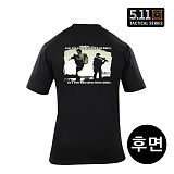 [5.11 Tactical] Broader Shoulders T-Shirt Black - 5.11 ��Ƽ�� ��δ� ��� �? Ƽ���� (40088V)