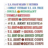 A Collection Military Decal Stickers - �̱� ��Į ��ƼĿ 11��