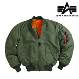 [Alpha] MA1 Flight Jacket Sage Green - ���� MA-1 �ö���Ʈ ������� (������ �׸�)