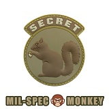 밀스펙 몽키(Mil Spec Monkey) [Mil-Spec Monkey] Secret Squirrel PVC (Desert) - 밀스펙 몽키 시크릿 스쿼럴 PVC 0008 (Desert)