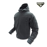 [CONDOR] Sierra Hooded Fleece Jacket Black - �ܵ��� �ÿ��� �ĵ� ��ü�� �ø������� (Black)
