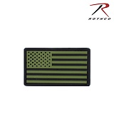 로스코(Rothco) [Rothco] US Flag Patch (OD/Black) - 로스코 US 플래그 PVC 패치 (OD/블랙)
