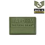 라피드 도미넌스(Rapid Dominance) [Rapid Dominance] Rapdom T90 Tactical Rubber Patch (OD) - 라피드 도미넌스 T90 택티컬 루버 패치 (OD)