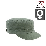 로스코(Rothco) [Rothco] Womens Adjustable Vintage Fatigue Cap (OD) - 로스코 여성용 빈티지 전투 캡모자 (OD)