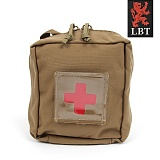 미군부대(GI) [LBT] Drop Leg MOJO Medical Individual Pouch With Red Cross (Coyote) - 모조 몰리 메딕 레그장착 파우치 (코요테)