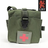 미군부대(GI) [LBT] MOJO Team Medical Bag With Red Cross (OD) - 모조 몰리 메딕백 파우치 (OD)