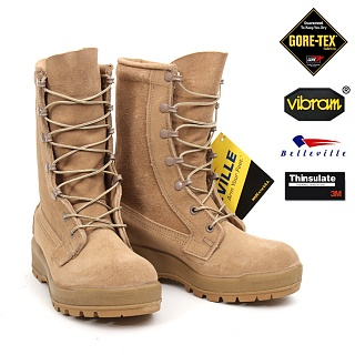 미군부대(GI) G.I. GORE-TEX Intermediate Cold/Wet Combat Boot (ICWT) - GORE TEX ACU 가죽 방한부츠[벌크]