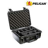 펠리칸(PELICAN) [Pelican] 1450 Medium hard Case (Black) - 펠리칸 1450 미듐 하드케이스 블랙 (Padded Dividers)