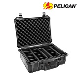 펠리칸(PELICAN) [Pelican] 1520 Medium Hard Case (Black) - 펠리칸 1520 미듐 하드케이스 블랙 (Padded Dividers)