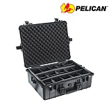 펠리칸(PELICAN) [Pelican] 1600 Large Hard Case (Black) - 펠리칸 1600 라지 하드케이스 블랙 (Padded Dividers)