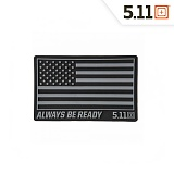 511 택티컬(511 Tactical) [5.11 Tactical] USA Patch (Black) - 5.11 택티컬 USA 패치 (블랙)