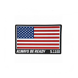 511 택티컬(511 Tactical) [5.11 Tactical] USA Patch (Red) - 5.11 택티컬 USA 패치 (레드)