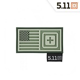 511 택티컬(511 Tactical) [5.11 Tactical] Short Stack Patch (OD Green) - 5.11 택티컬 숏 스택 패치 (OD 그린)
