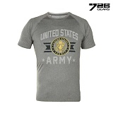 726(726) [726 Gear] UNITED STATES ARMY T Shirt (Gray) - 726 기어 미육군 기능성 티셔츠 (Gray)